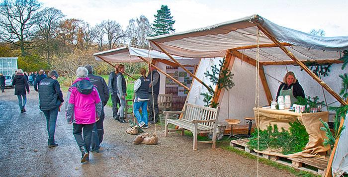 Slotsgartneriet på Felstedvej i Gråsten byder på et spændende julemarked. Foto Søren Gülck
