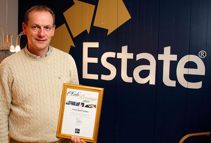 Kjeld Faaborg står for størstedelen af salget af huse og ejendommen i Gråsten og omegn. Foto Søren Gülck