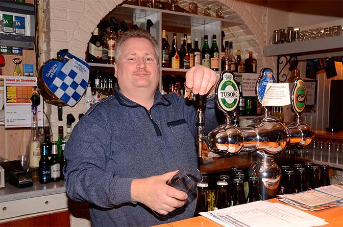 Morten Latter holder åbent 362 dage om året på Center Pub. Foto Tove Hansen