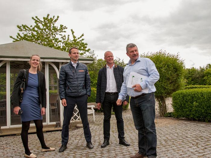 Mogens Dall havde forud for folketingsvalget besøg af Ellen Trane Nørby, Kristian Jensen og Peter Christensen. Arkivfoto