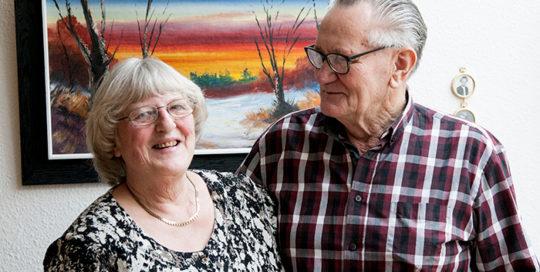 Thea og Svend Brodersen har været gift i 50 år.