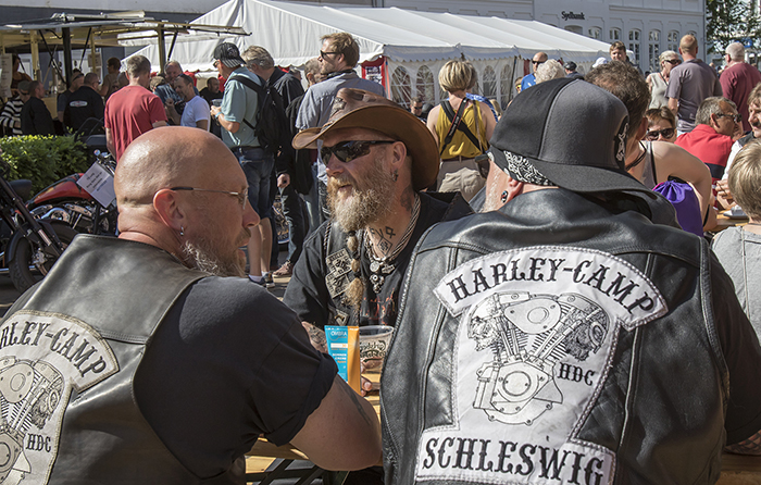 De mange Harleyer satte deres præg på Gråsten.