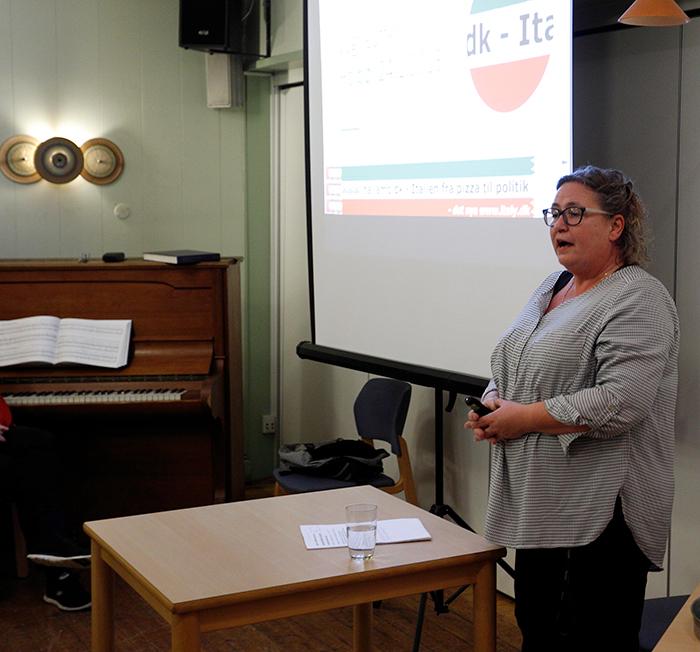 Charlotte Sylvestersen fortalte om dagligdagen i Italien.