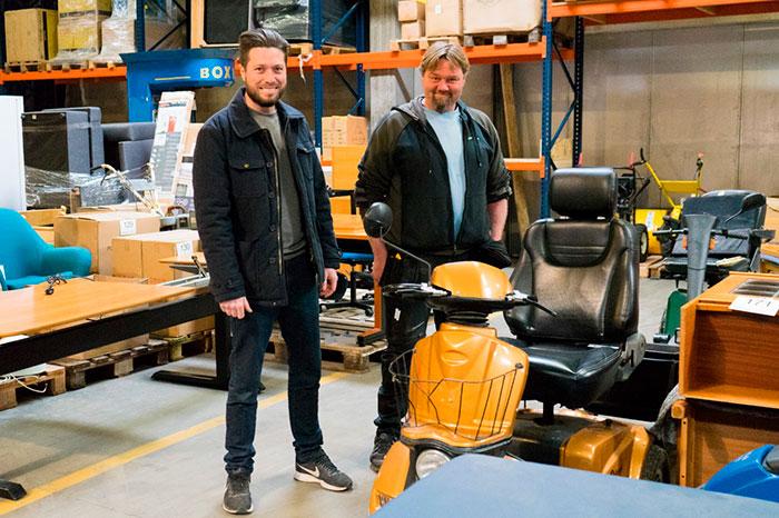 Lars Berthelsen og Jesper Heuck hjælper med at rådgivning og erfaring, når folk vil sælge deres ting.