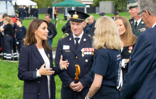 Flere brandkadetter havde muligheden for at tale med Prinsessen. Foto Lene Neumann Jepsen