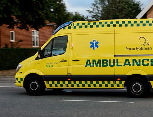 Tyske ambulancer er på vej ud