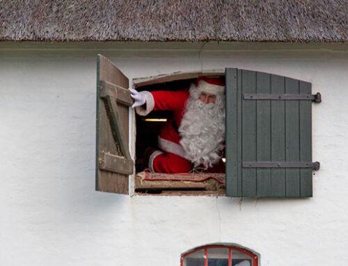 Julemanden bliver vækket på Oldemorstoft