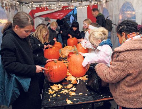 Hyggelig halloween i Padborg Torvecenter