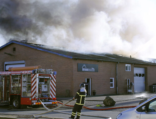 Snedkerfirma brændte i Padborg