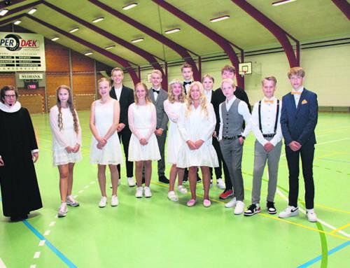 Flot konfirmation i Grænsehallerne i Kruså